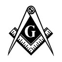 フリーメイソン Gマーク 定規・コンパス ロゴ デカール 約8.5...