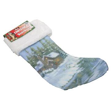 【クリスマス】クリスマスソックス 靴下型収納袋 ロッジ 【サンタ プレゼント】 【184SS10】