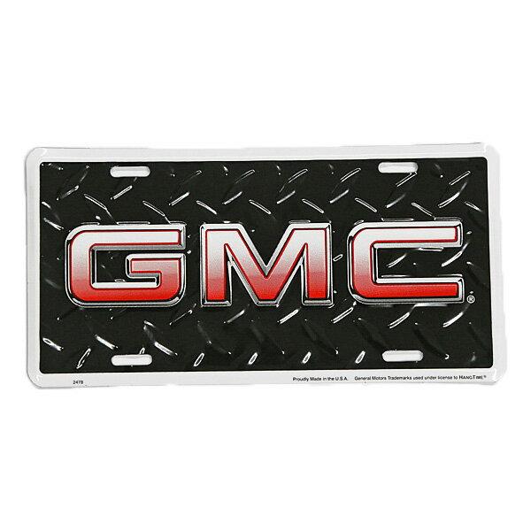【ブリキ看板】 GMC ロゴ エンボス ブリキ看板 30×15.5cm 【インテリア 壁掛け】