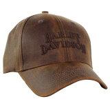 【Harley-Davidson】ハーレーダビッドソンブラウンストーンウォッシュベースボールキャップ(BCC111439)【帽子野球帽】