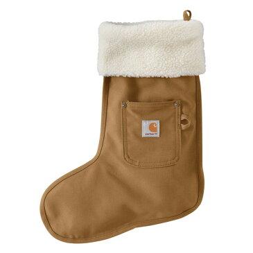 【クリスマス】【carhartt】 カーハート クリスマスソックス(靴下型収納袋)ブラウン 【サンタ プレゼント ストッキング】 【181SS10】