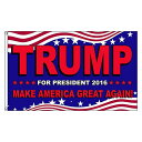 フラッグ TRUMP Make America Great Again Flag 91cm×152cm ■ ドナルド・トランプ 旗 米国 USA 雑貨 インテリア