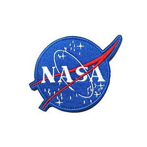 【ワッペン】NASA ロゴ パッチ 直径8cm【アメリカ コスプレ 雑貨】