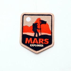 【ワッペン】MARS パッチ 6.5cm×9cm【雑貨 コスプレ NASA アメリカ】