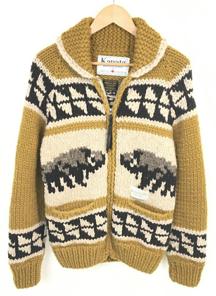 メンズファッション, コート・ジャケット NEIGHBORHOOD KANATA KANATA . BUFFALO W-COWICHAN KNIT CARDIGAN WOOL100 :132KHKAN-KNM01 :M :GOLD Net