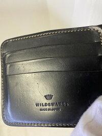 【中古】WILDSWANSワイルドスワンズWINGSウィングス二つ折りウォレットブラックメンズ財布万代Net店