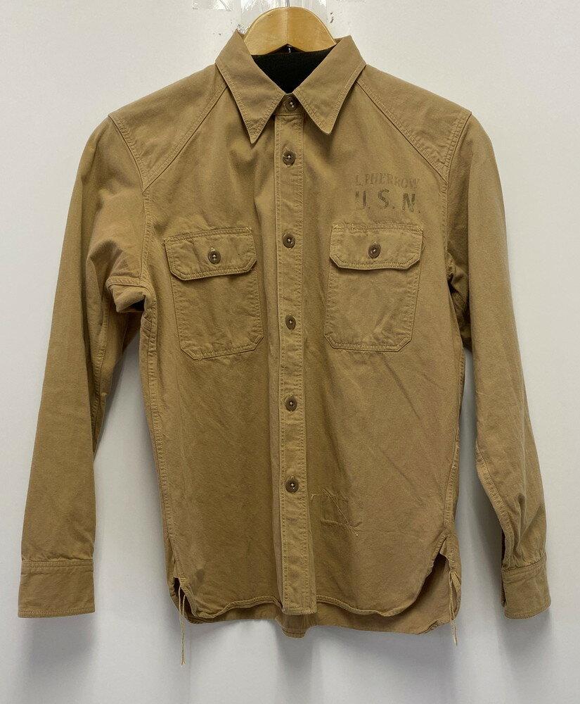 トップス, カジュアルシャツ Pherrows LONG SLEEVE TWILL SHIRT U.S.N 15W780WSVP131 S Net
