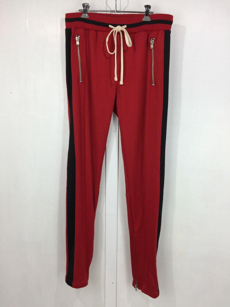 メンズファッション, ズボン・パンツ mnml DRAWSTRING TRACK PANTS L RED