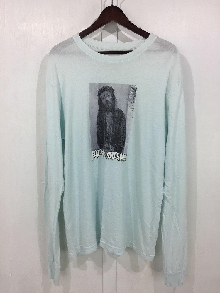 トップス, Tシャツ・カットソー FUCKING AWESOME 14AW Palm Sunday LS TEE T L LIGHT BLUE Net