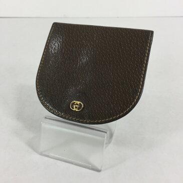 【中古】【メンズ】GUCCI ピッグスキンコインケース オールドグッチ 財布 小銭入れ サイズ:約8×8.5cm カラー:BROWN 万代Net店