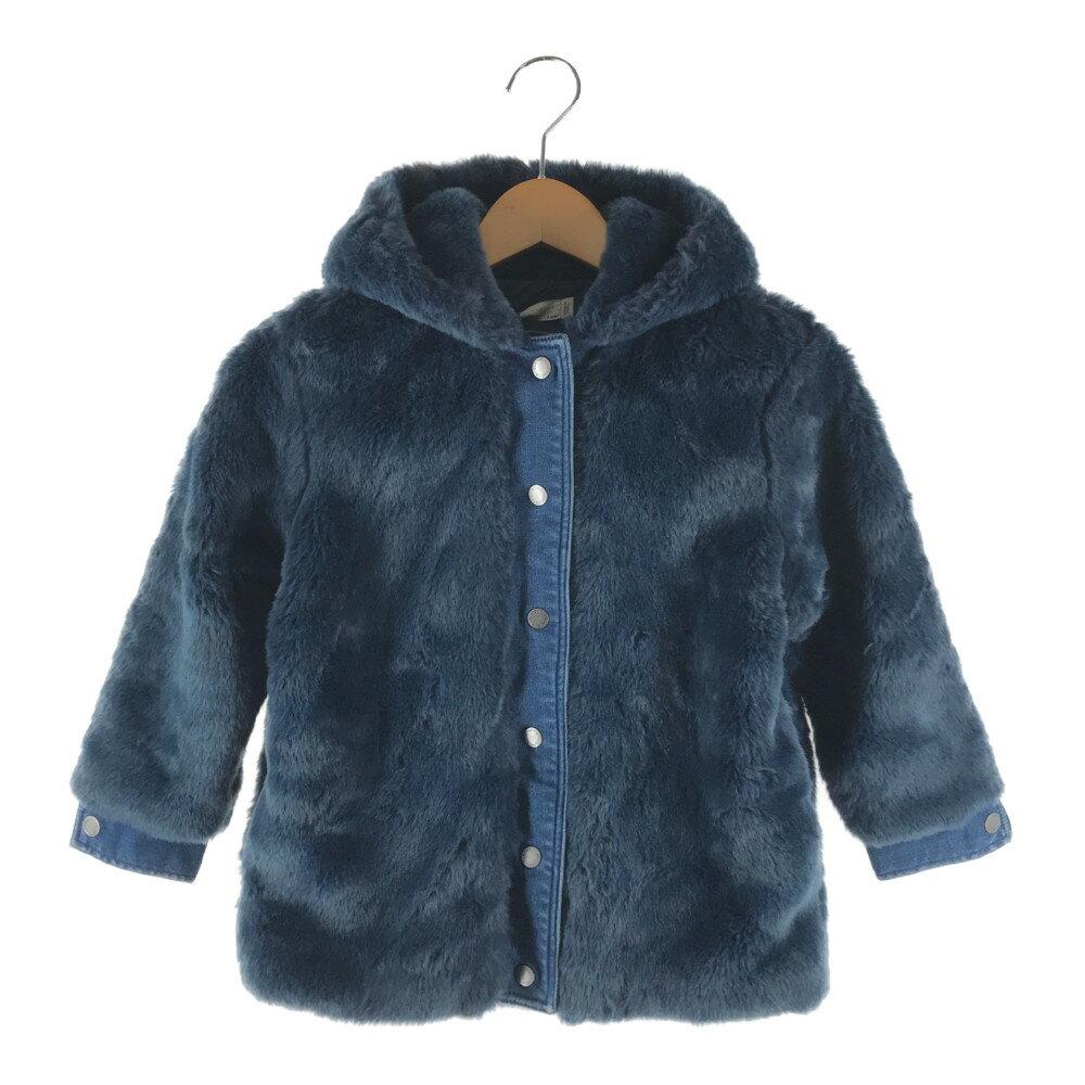 レディースファッション, コート・ジャケット STELLA McCARTNEY KIDS FAKE FUR JACKET 423454 SHK24 4100 6 NAVY Net