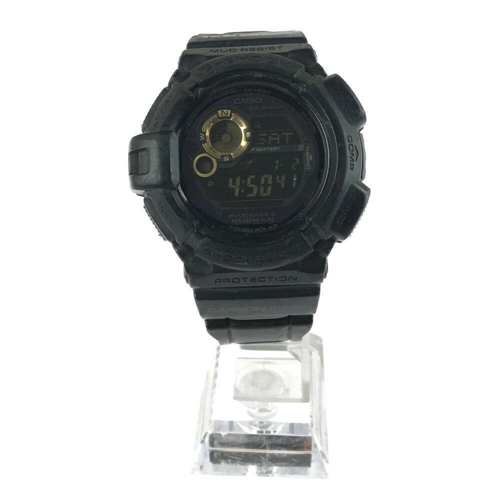 腕時計, メンズ腕時計 CASIO G-SHOCK GW-9300GB-1JF MUDMAN 5350.818.2mm 21.5cm BLACK Net