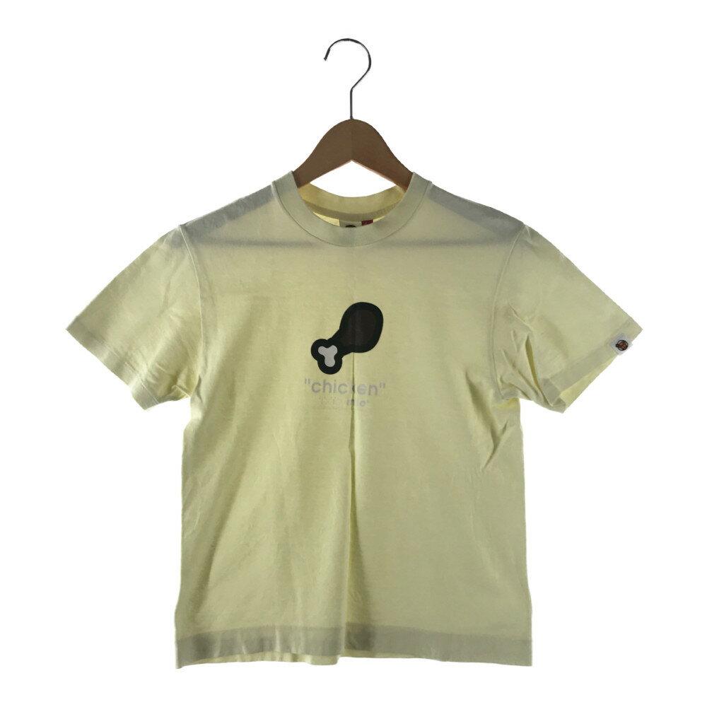 トップス, Tシャツ・カットソー A BATHING APE BABY MILO CHICKEN TEE T TALL YELLOW Net