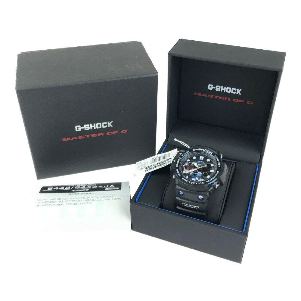腕時計, メンズ腕時計 CASIO G-SHOCK GULFMASTER TWIN SENSOR GN-1000B-1AJF 50.553.415.9mm 21.5cm BLACK Net