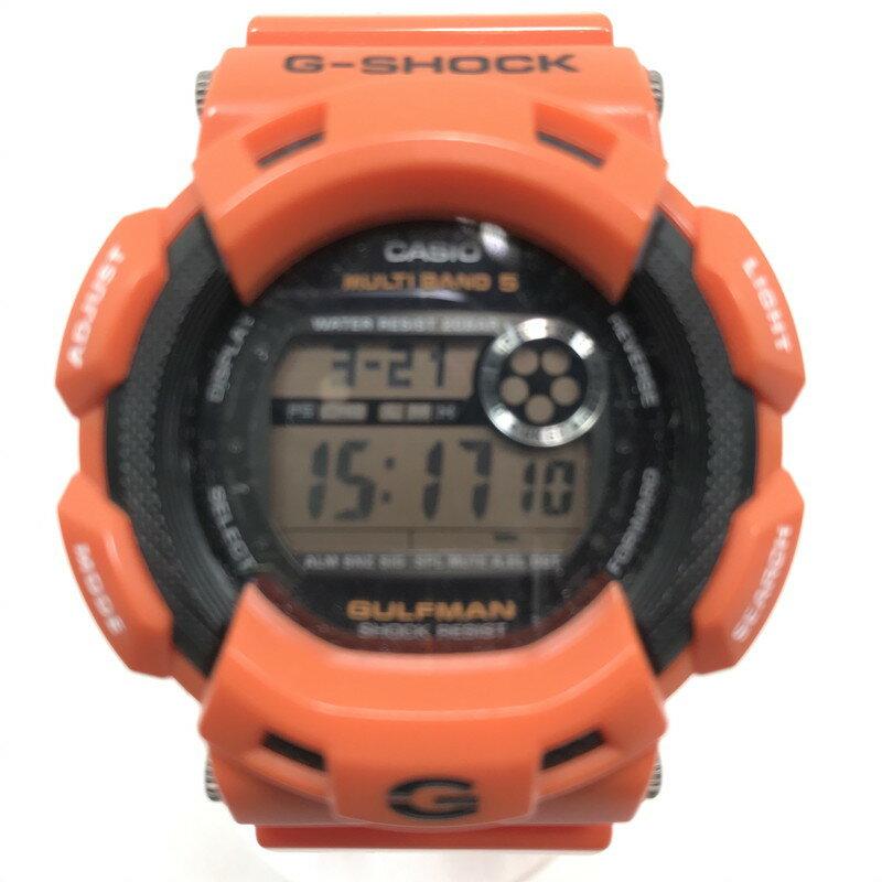 腕時計, メンズ腕時計 G-SHOCK GULFMAN Men in Rescue Orange GW-9100R-4JF Net