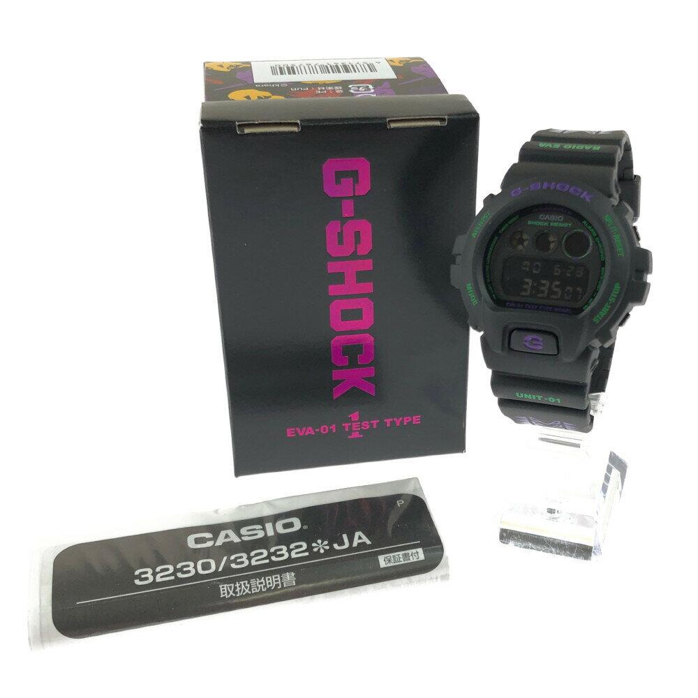 腕時計, メンズ腕時計 CASIO G-SHOCK DW-6900 feat.RADIO EVA EVANGELION STORE 53.25016.3mm 22.5cm BLACK Net