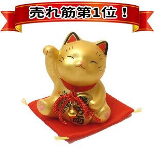大人気!金運を強力に招くお金招き猫・金(7375)【あす楽対応/楽ギフ_包装選択/招き猫 金色…