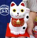 新聞やテレビで話題騒然の手のり招き猫に大きいサイズが出ました!!【嵐 招き猫】招き猫で日本を...