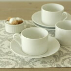 カプリ_カップ&ソーサー190cc,白磁,カフェ食器,ティーアイテム,陶磁器,白い食器,業務用食器,コーヒーカップ,ティーカップ,カップアンドソーサー