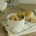 【白磁のココット_9cm】グラタン皿,デザートボウル,フルーツボウル,小鉢