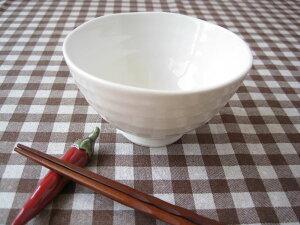 飯碗,ご飯茶碗,お茶碗白のシンプル食器、ナチュラル和食器【たたら】 ぐるぐるご飯茶碗 L