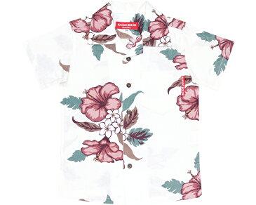 キッズシャツ ジャガードハイビー 90cm〜110cm アロハシャツ かりゆしウェア