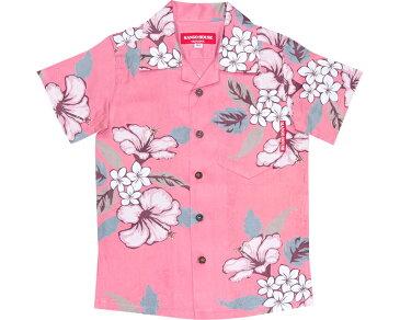キッズシャツ ジャガードハイビー 120cm〜140cm アロハシャツ かりゆしウェア