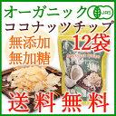 【送料無料・お得な12袋】<有機JAS・無添加>オーガニックココナッツチップス ロースト 10&