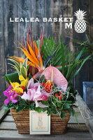 """おまかせ!ハワイアンフラワーアレンジ""""LEALEA BASKET=M=""""花 ギフト 誕生日 アレンジメント フラワー ギフト お花 お祝い 開店祝い アレンジ あす楽 退職祝い 母 プレゼント"""