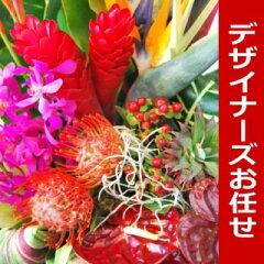 当日出荷可能!おまかせハワイアンアレンジフラワー花材はおまかせ!ボリューム満点のハワイア...