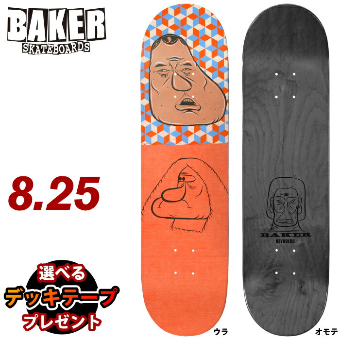 パーツ, デッキ  BAKER REYNOLDS - BARRY MCGEE 8.25 SK8 SKATEBOARD