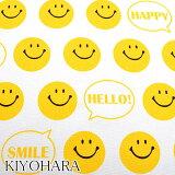 [A]清原 オックス生地 おしゃべりスマイリー Wホワイト 10cm SMIF-06 KIYOHARA
