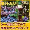 健康飲料!薄めるだけで簡単に果汁入りブルーベリーはちみつ飲料が出来る!