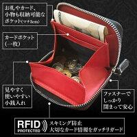 スキミング防止素材_ラウンドファスナー_カードポケット