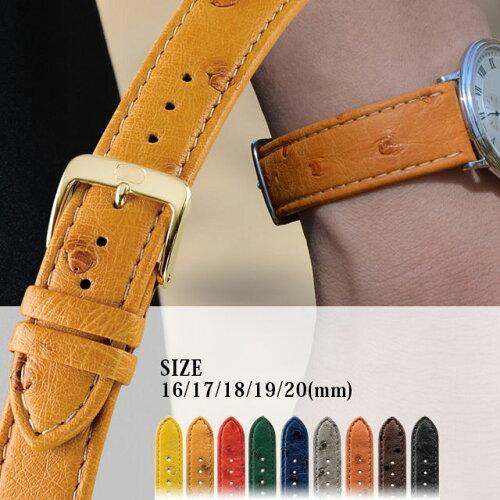 時計ベルト 時計 ベルト オーストリッチ Di-Modell ディモデル STRAUSS ストラウス MEN'S SIZE U16...