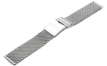 時計ベルト 時計バンド カシス製腕時計ベルト メッシュメタル V05030H7 20mm 腕時計ベルト 時計 ベ...