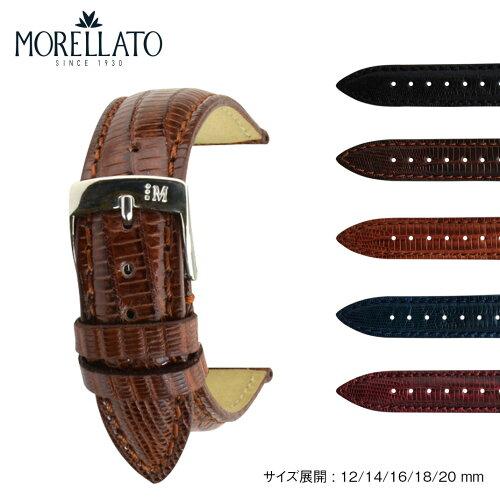 時計 ベルト 時計ベルト テジュ・リザード MORELLATO モレラート VOLTERRA ボルテラ u0856041 12mm...