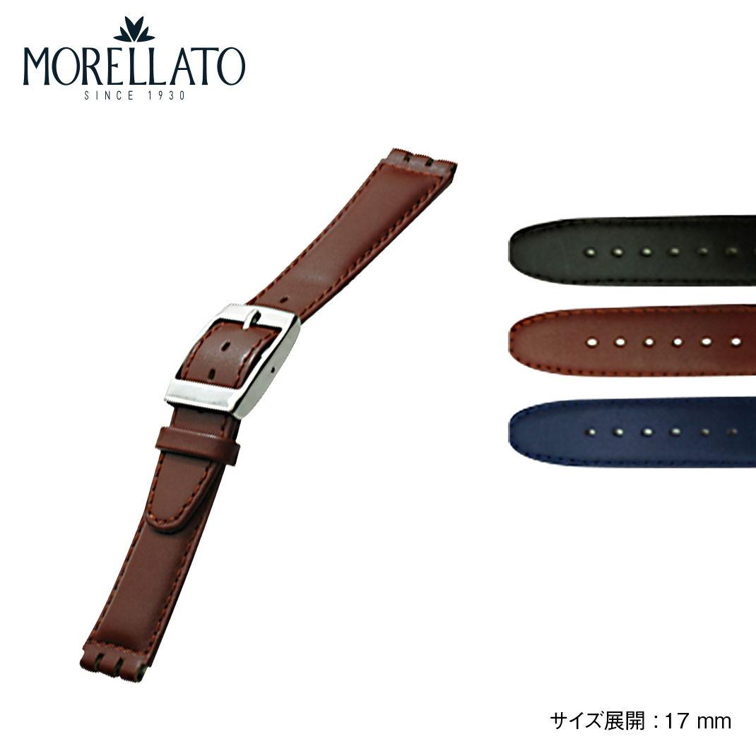 腕時計用アクセサリー, 腕時計用ベルト・バンド HILTON MORELLATO HILTON Swatch U2740640C1 17mm