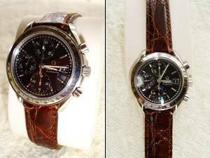 時計ベルトをモレラートのアマデウスに交換したオメガ スピードマスターデイト
