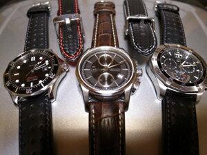 時計ベルトをモレラートのラグビーに交換したオメガ シーマスター300