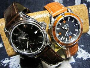 時計ベルトをモレラートのルイジアナとルノアールに交換したomega deville co-axial power reserve