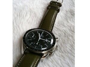 時計ベルトをモレラートのエリートに交換したオメガ スピードマスター