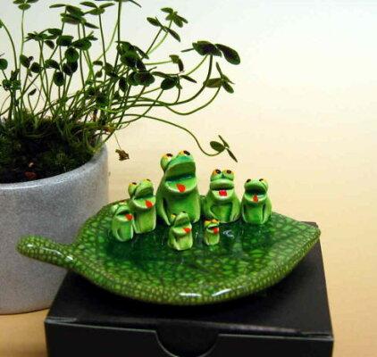 七福神が蛙陶器置物