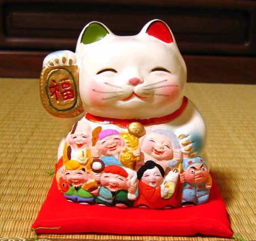 福笑い招き猫七福神 【楽天市場】福笑い招き猫七福神:笑福工房 万兵