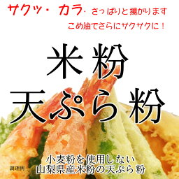 グルテンフリー 米粉 天ぷら粉 (山梨県米使用) 2kgx2袋