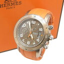 HERMES エルメス クリッパー ダイバー クロノグラフ 腕時計 C...