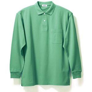 長袖ポロシャツ(Men's & Ladies)7色[ミントグリーン]M〜5Lサイズ