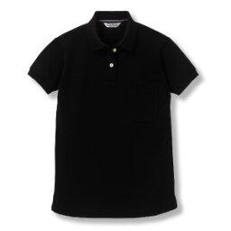 レディースクイックドライ半袖ポロ [ブラック]5号〜15号サイズ