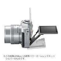 《新品》Nikon(ニコン)Nikon1J5ダブルズームレンズキットシルバー【SandiskmicroSDHCUHS-I8GBプレゼント/数量限定】[ミラーレス一眼カメラ|デジタル一眼カメラ|デジタルカメラ]発売予定日:2015年4月下旬