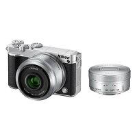 《新品》Nikon(ニコン)Nikon1J5ダブルレンズキットシルバー